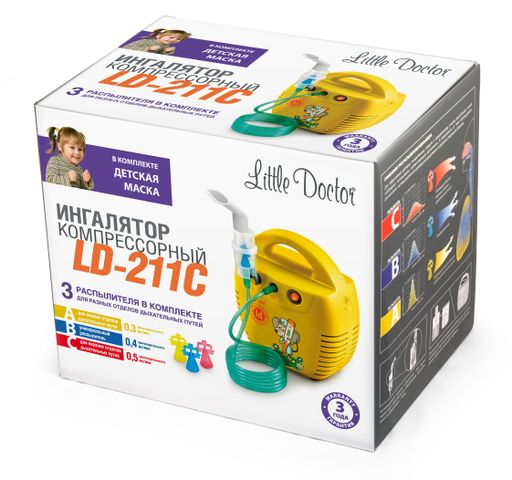 Ингалятор компрессорный Little Doctor LD-211С, LD-211C, в ассортименте, 1 шт. цена